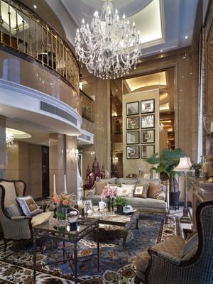 326平米新古典主义美式风格别墅室内设计装修效果图