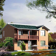 现代中式风格农村自建别墅设计效果图赏析