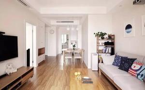 韩式简约风格两室一厅装修效果图鉴赏