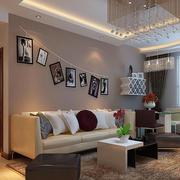 现代风格小户型客厅照片墙效果图赏析