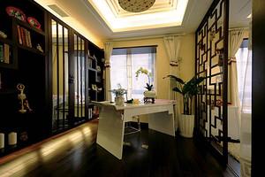 146平米现代中式风格三室两厅一卫装修效果图赏析