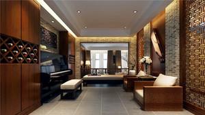 中式风格三居室客厅装修效果图赏析