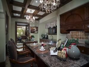 复古美式乡村风格两层别墅室内装修效果图鉴赏