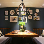 10平米北欧简约风格小包厢餐厅装修效果图