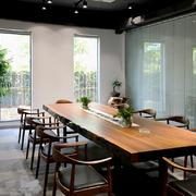 现代中式风格办公室会议室装修效果图鉴赏