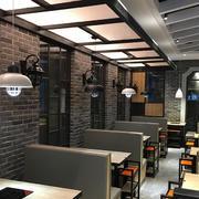 86平米现代中式风格火锅店商铺效果图