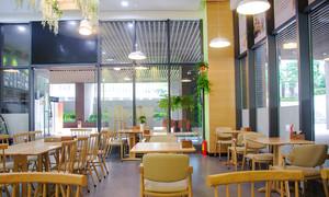 46平米小清新风格咖啡厅装修效果图