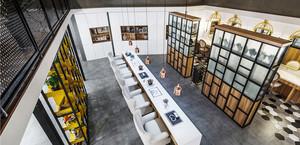 60平米现代中式风格美容院装修效果图