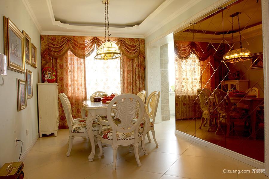 106平米欧式田园风格两室两厅装修效果图实例