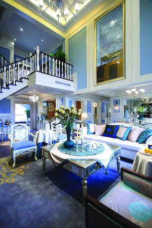 146平米地中海风格复式楼三室三厅装修效果图赏析