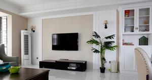 18平米现代简约风格客厅电视背景墙装修效果图