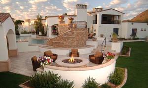 地中海风格别墅露天阳台装修效果图装修效果图