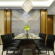 20平米现代中式风格餐厅背景墙装修效果图赏析