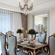 200平米欧式风格别墅餐厅精美吊顶装修效果图