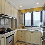 15平米现代简约美式风格厨房装修效果图