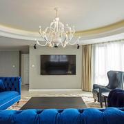 大户型简欧风格客厅精美吊灯装修效果图