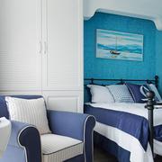 12平米地中海简约风格儿童房装修效果图赏析