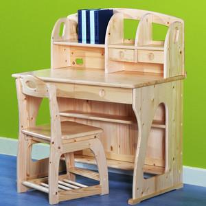 现代简约风格实木儿童房学习桌效果图大全