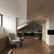 30平米现代简约风格别墅阁楼装修效果图