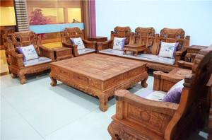 中式风格花梨木沙发装修效果图大全