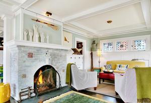 156平米北欧风格小别墅客厅壁炉装修效果图