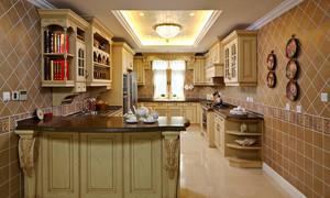 45平米欧式风格别墅室内厨房装修效果图