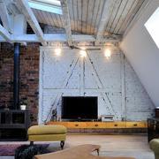 北欧风格两居室阁楼客厅吊顶装修效果图赏析