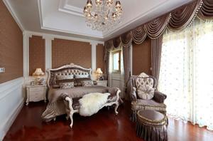 30平米欧式典雅精致女生卧室窗帘装修效果图