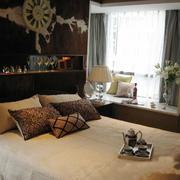 7平米大户型东南亚风格卧室飘窗装修效果图