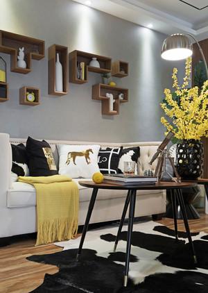 20平米宜家简约风格客厅背景墙装修效果图