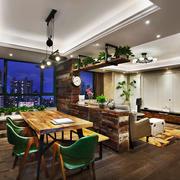 30平米后现代简约风格客厅餐厅装修效果图