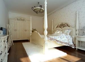 98平米欧式田园风格一室两厅装修效果图
