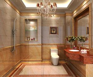 6平米都市简约风格卫生间瓷砖装修效果图赏析
