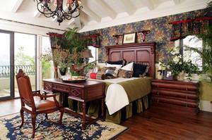 10平米仿古欧式风格卧室背景墙装修效果图赏析