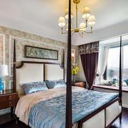 欧式田园风格卧室带飘窗装修效果图赏析