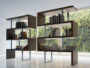 现代loft简约风格大户型客厅博古架装修效果图