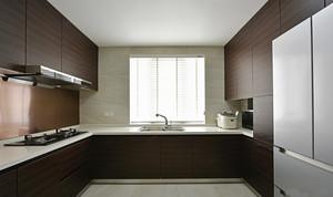 17平米现代简约风格大户型厨房橱柜装修效果图