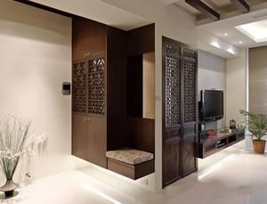 5平米现代中式风格玄关衣柜装修效果图赏析
