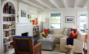 30平米北欧风格开放式客厅书房装修效果图