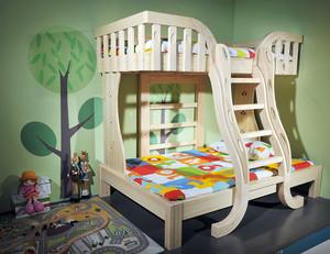 现代简约风格卧室实木子母床装修效果图大全