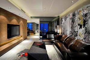 96平米后现代简约风格中性冷色室内装修效果图
