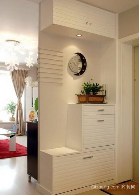 两室一厅简约田园风格鞋柜装修图片