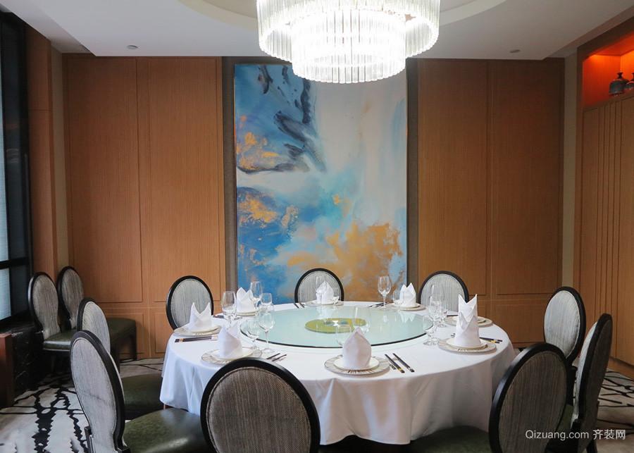 20平米现代中式风格餐厅包厢装修效果图