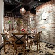 15平米时尚自然风格餐厅小包间装修效果图