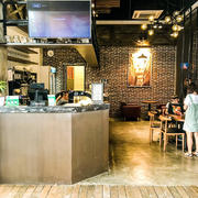20平米现代时尚风格茶吧商铺吊顶装修效果图