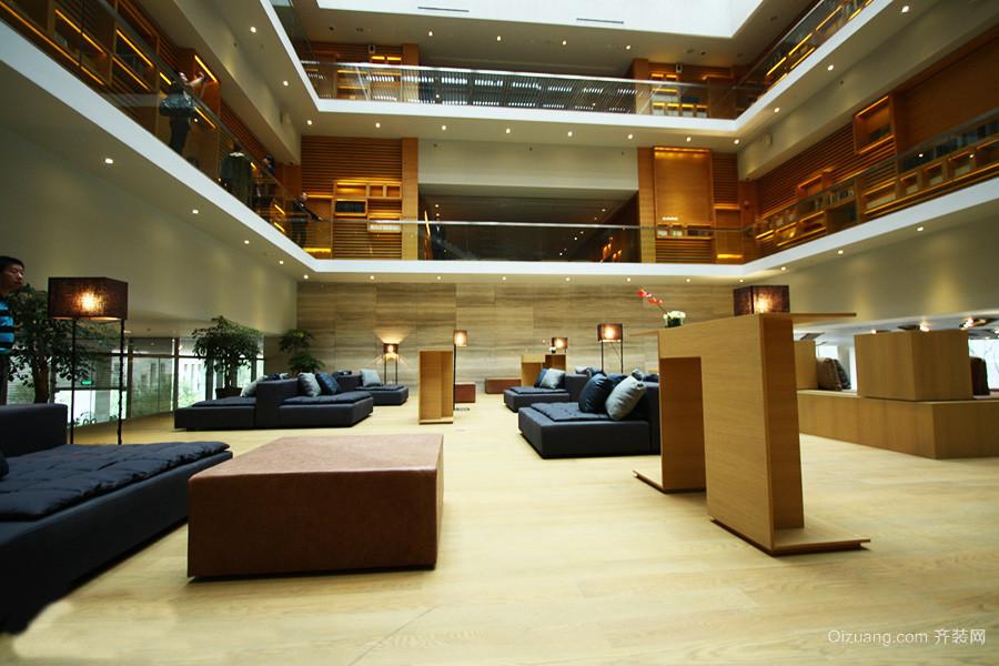 120平米现代简约风格酒店大堂装修效果图