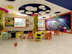 40平米都市清新风格幼儿园教室装修效果图