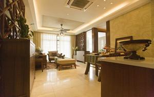 独特东南亚风格三室一厅装修效果图赏析