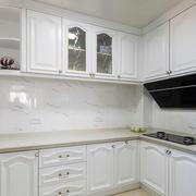 10平米简欧风格厨房白色橱柜装修效果图赏析