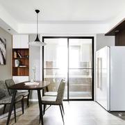 现代简约风格餐厅厨房隔断装修效果图赏析